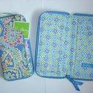 Vera Bradley Travel Organizer  Capri Blue  NWT Retired  passport wallet zip around clutch