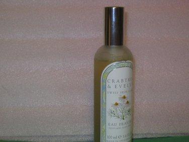 Crabtree Evelyn Swiss Skin Eau Fraiche unboxed camomile  Disc'd 3.4 oz NOS mist spray