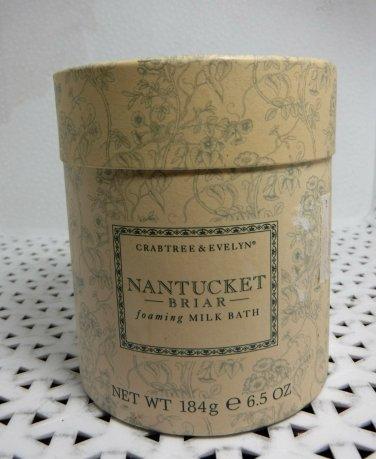 Crabtree Evelyn Nantucket Briar foaming Milk Bath FS  Rare  bath salt