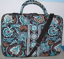 Vera Bradley Laptop Portfolio Java Blue  hard shell laptop case  Retired original pattern