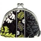 Vera Bradley Double Kiss coin purse in Baroque  - small clutch makeup tech case