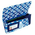 Vera Bradley Travel Wallet Blue Lagoon  passport folio document holder organizer FS