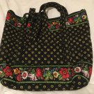 Vera Bradley Villager in Vibrant Black  NWT Retired  early classic