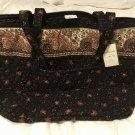 Vera Bradley Miller Bag Black Walnut XL tote weekend overnight NWT Retired VHTF