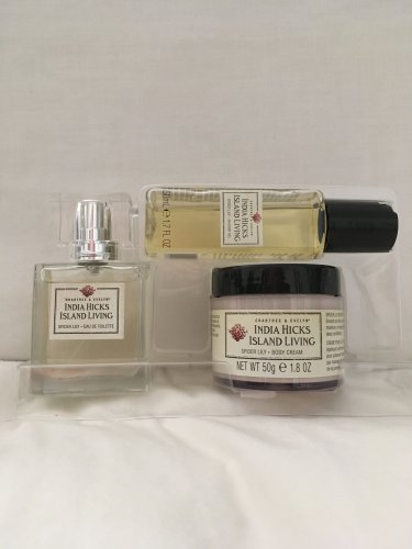 Crabtree Evelyn India Hicks Spider Lily travel size trio EDT 1 oz. Body Wash Lotion 1.7 oz each  FS