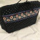 Vera Bradley Little Travel Case Alpine Black game craft case tote  retired