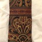 Vera Bradley Eyeglass Case Mocha  early vintage brown paisley pattern