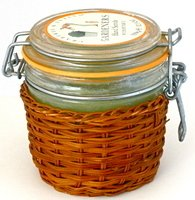 Crabtree Evelyn Gardeners Hand Scrub w Pumice  12.3 oz Glass Jar exclusive Wicker cover version