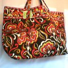 Vera Bradley Puccini Super Tote XL  weekend carryon overnight  NWT Retired  great autumn colors