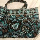 Vera Bradley Java Blue Super Tote XL  weekend carryon overnight  NWT Retired  great autumn colors