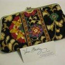 Vera Bradley Double Kisslock Clutch Wallet Suzani   •  Retired NWOT