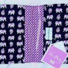 Vera Bradley Paperback Cover Pink Elephants nwt retired FS bookcover