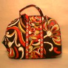 Vera Bradley Purse Cosmetic bag Puccini make-up toiletry case NWT Retired FS