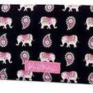 Vera Bradley Checkbook Cover Pink Elephants  NWT Retired checkbook coupon holder FS
