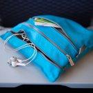 Flight 001 Seat Pak aqua Blue • travel in-flight organizer seat accessory clutch FS