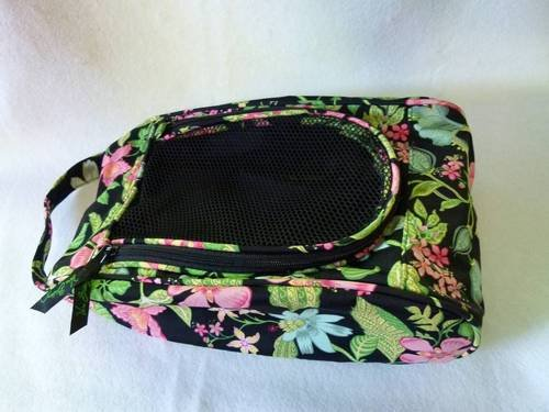 Vera Bradley Shoe Bag in Botanica including golf tennis sport shoes  NWOT Retired HTF