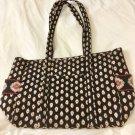 Vera Bradley Classic Black Baby Diaper Bag super Tote XL carry all overnight