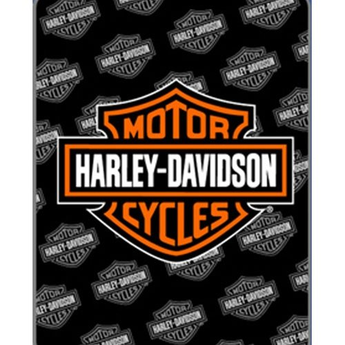 Harley Davidson Fleece Blanket- HD Logo