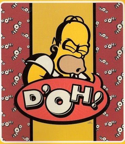 Homer Simpson Doh Fleece Blanket