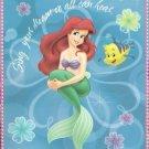 Disney's Little Mermaid Fleece Blanket