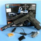 Airsoft Pistol w/ Laser, Scope and Silencer