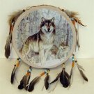 Wolf Tamborine Dream Catcher - Style 2