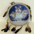 Wolf Tamborine Dream Catcher - Style 3