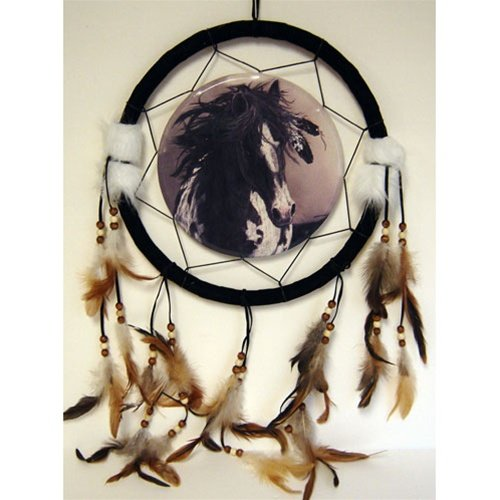 """13"""" Horse Dream Catcher w/ Feathers"""