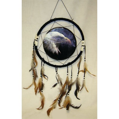 """13"""" Eagle Dream Catcher w/ Feathers"""