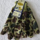 Green/Brown Camo Jersey Gloves