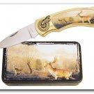 Deer Knife in Metal Tin