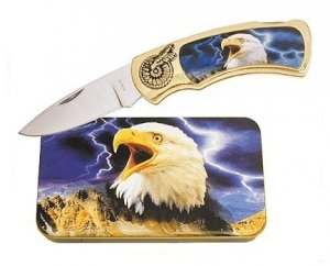 Eagle Knife in Metal Tin
