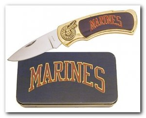 Marine Knife in Metal Tin