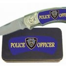 Police Man Knife in Metal Tin