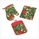 Poinsettia Kitchen Set
