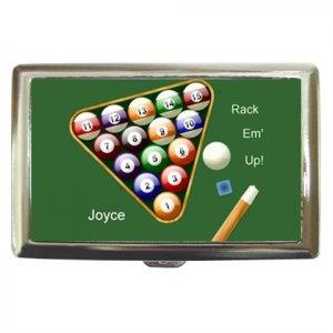 Billiards Pool Customized Cigarette/Money Case
