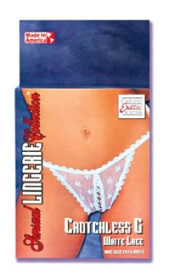 Crotchless G White Lace