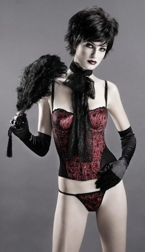 Satin bustier with underwired cups