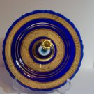 Plate with floral design - gold plated.