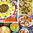 Vintage 1950's Kitchen Cookbook Clipart Collage