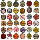 Vintage Soda Pop Bottlecaps Clipart Collage