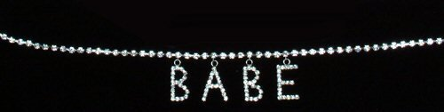 Rhinestone Belly Chain With Hanging Letters - Different designs.