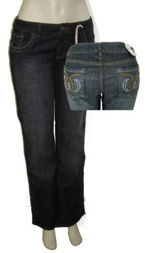 Womens faded black jeans