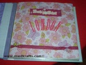 Slap N Clap Albums ~ This Baby Girl 12 x12 Scrap Book Album