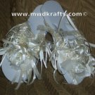 Here Comes The Bride Flip Flops ~ Ivory