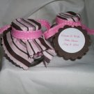 Baby Shower favor jars - brown and pink