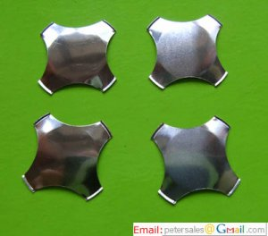Metal Dome, snap dome, Cross, 4-Legs - No Dimple, 6F-125BKOO