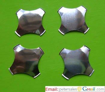Metal Snap Dome -Cross - No Dimple- Diameter 12mm