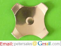 Cross Dome, Metal Snap Dome, Center Dimple, Diameter 8.5mm