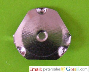 Metal Snap Dome, metal dome - Triangle Series, 11.5-12mm